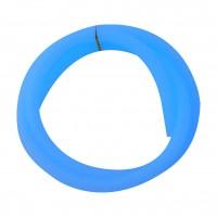 Silikonschlauch Matt Blau Glow, ca. 1,50 Meter lang