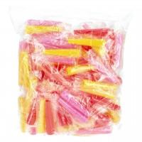 Hygienemundstücke rund, Gelb Rot Pink, Medium, 100-er Packung