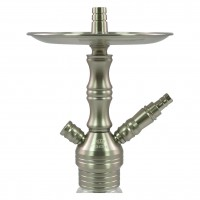 Caesar Alu Shisha Paris Stainless Steel Color - Shining Transparent, 34 cm hoch