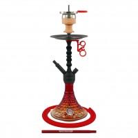 Amy Alu Antique Berry S Klick Shisha, Red RS Black, 48 cm hoch