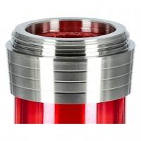Caesar Edelstahl Shisha 049 B 4-er Shining Red, 36 cm hoch