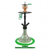 Amy Middle Globe Rainbow Klick II Shisha, Green RS Black, 46 cm hoch