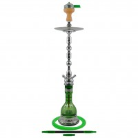 Amy Sharqi Shisha Oriental, Grün / Chrome, 84 cm hoch