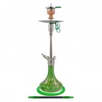 Amy Feather Steel Edelstahl Shisha, Green, 70 cm hoch