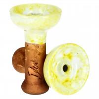 Denka Bowl Einloch Phunnel, Weiß-Gelb