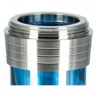 Caesar Edelstahl Shisha 049 B 4-er Shining Light Blue, 36 cm hoch