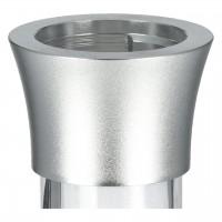 Aladin Alux Admiral Aluminium Shisha, Silber, 49 cm hoch