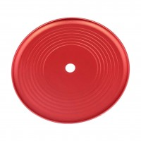 Groove Aluminium Ascheteller Rot eloxiert, 24 cm, Kaya