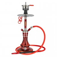 Amy Carbonica Solid Edelstahl Shisha Red RS Red, 48 cm hoch