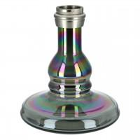 Caesar Alu Shisha Carbon Stainless Steel Color Mid 01 - Black Shining - Light Black, 48 cm hoch