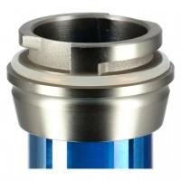 Caesar Alu Shisha Carbon Stainless Steel Color Mid 01 - Blue Shining - Blue, 48 cm hoch