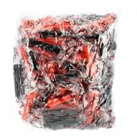 Hygienemundstücke rund, Rot Schwarz, Medium, 100-er Packung