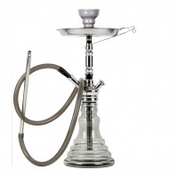 MYA Melina Klick Shisha, Grey Clear RS Chrome, 46 cm hoch