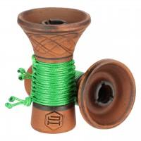 Japona Hookah Ego Bowl Green Tabakkopf Einloch