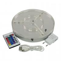 LED Untersetzer mit BlueTooth Lautsprecher, 20 cm, mit Akku, Mata Leon