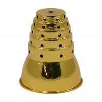 Windschutz Gold, aus Metall, 14,5 cm