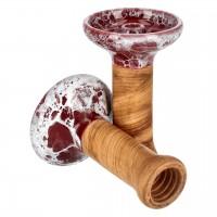 Oblako Phunnel M Glazed Marble Wine Red White Tabakkopf Einloch