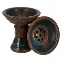 Saphire Power Bowl Tabakkopf Water, Ton, glasiert