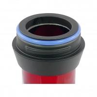 Amy Alu Claw Klick Shisha, Red RS Black, 62 cm hoch