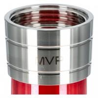 Aladin MVP 500 Edelstahl Shisha Full Shiny Red, 51 cm hoch