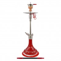 Amy Feather Steel Edelstahl Shisha, Red, 70 cm hoch
