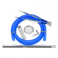 Smokah Edelstahl Shisha Master X 2.0 Blau, 49 cm