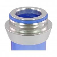 Amy Alu Lima S Klick Shisha, Blue RS Silver, 52 cm hoch