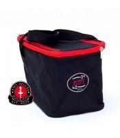 Shisha-Tasche klein, schwarz/rot, 24 cm, Amy Deluxe