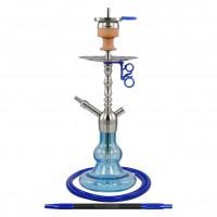 Amy Middle Tango Edelstahl Shisha, Blau, 49 cm hoch