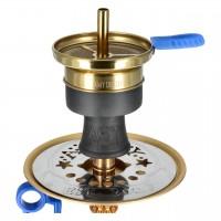 Amy Alu Antique Berry Mini Klick Shisha, Blue RS Gold, 31 cm hoch