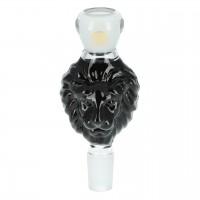 Molassefänger schwarzer Löwenkopf aus Glas, 18,8 auf 18,8, Mata Leon