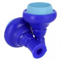Silikon Tabakkopf Hydra Mehrloch, Blau