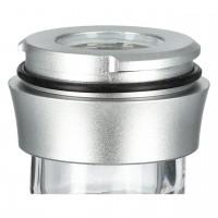 Aladin Alux 5 Aluminium Shisha, Silver, 44 cm hoch