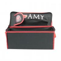 Shisha-Tasche mittel, schwarz/rot, 41 cm, Amy Deluxe