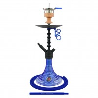 Amy Alu Antique Berry S Klick Shisha, Blue RS Black, 48 cm hoch