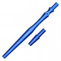 """Alu-Mundstück """"Lux"""" Blau, mit Adapter, 24,5 cm"""