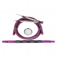 Amy X-Ray Shisha Purple Clear, 62 cm hoch