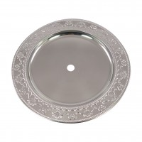 Ascheteller Silber mit Muster, 30 cm, Amy Deluxe