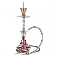 Aladin Alux 2 Aluminium Shisha, Rot, 48 cm hoch
