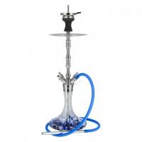 Smokah Edelstahl Shisha Master 2.0 Blau, 64 cm