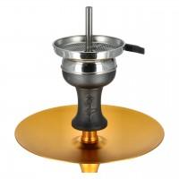 Aladin Alux 5 Aluminium Shisha, Gold, 44 cm hoch