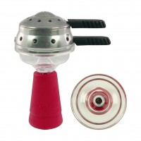 Amy Deluxe GlasSi Set Einloch Rot mit Smoke Box