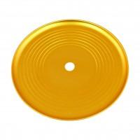 Groove Aluminium Ascheteller Gold eloxiert, 24 cm, Kaya
