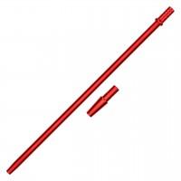 "Mundstück ""Alu-Liner"" Rot, mit Adapter, 40 cm"