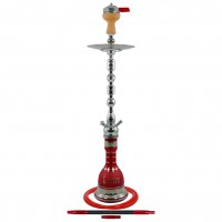 Amy Sharqi Shisha Oriental, Rot / Chrome, 84 cm hoch