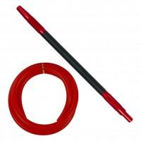 Amy Hammer Steel Edelstahl Shisha, Rainbow Red, 67 cm hoch