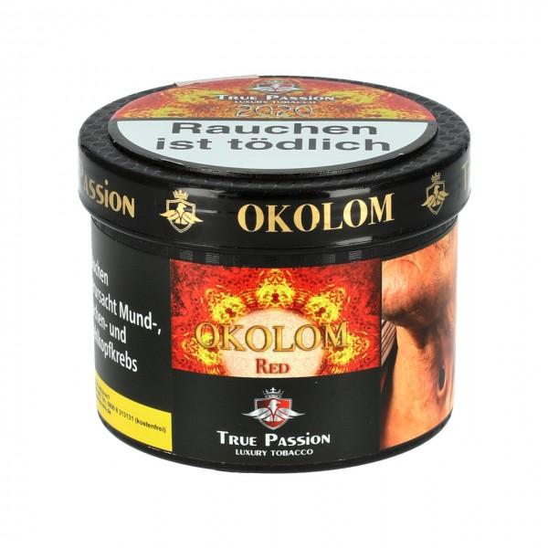 True Passion Drachenfrucht Erdbeere Holunder Limette Menthol (Okolom Red) Shisha Tabak, 200g