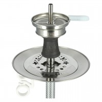 Amy Carbonica Force S Edelstahl Shisha Clear RS White, 51 cm hoch