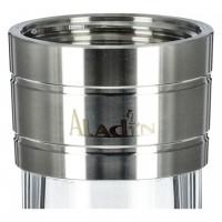 Aladin MVP 480 Edelstahl Shisha Bottom Black, 47 cm hoch