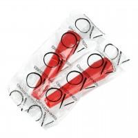 Rote Hygienemundstücke rund, Medium, 100-er Packung
